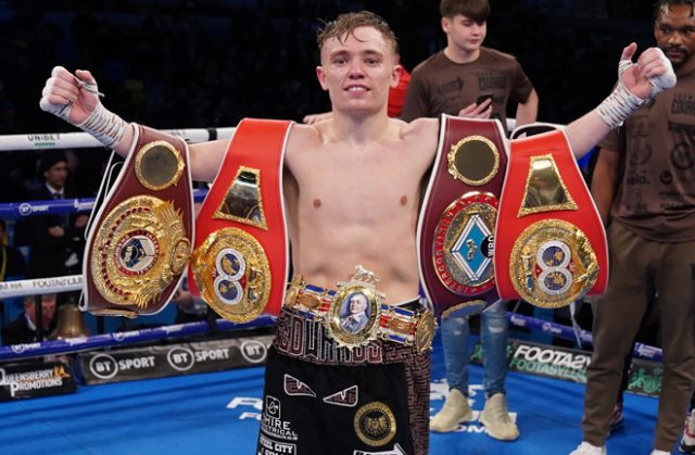 Sunny Edwards climbed off the canvas to win the British title Credit: Frank Warren