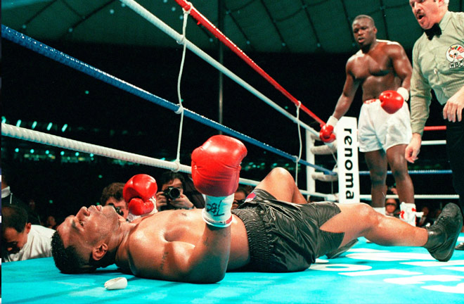 Mike Tyson's shock loss to James 'Buster' Douglas in Tokyo Credit: thesun.co.uk