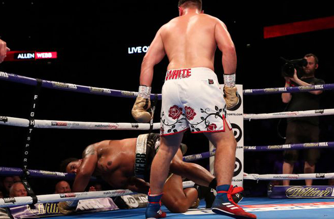 Nick Webb was knocked out in four rounds by Dave Allen, July 2018 Credit: Sky Sports