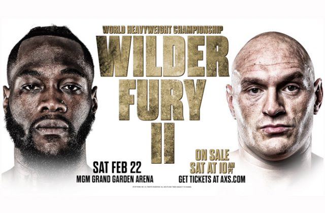 Tyson Fury vs Deontay Wilder II comes to Las Vegas. Photo credit: Queensbury Promotions