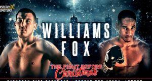 Liam Williams vs Alantez Fox. Photo credit: frankwarren.com