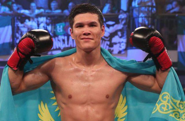 Olympic Gold medalist Daniyar Yeleussinov continues his charge against Alan Sanchez in Phoenix on Friday Credit: Sky Sports