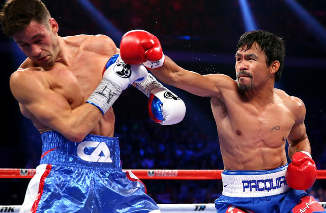 Former world champion Algieri was defeated by Manny Pacquiao in 2014 Credit: Chris Hyde / Getty Images