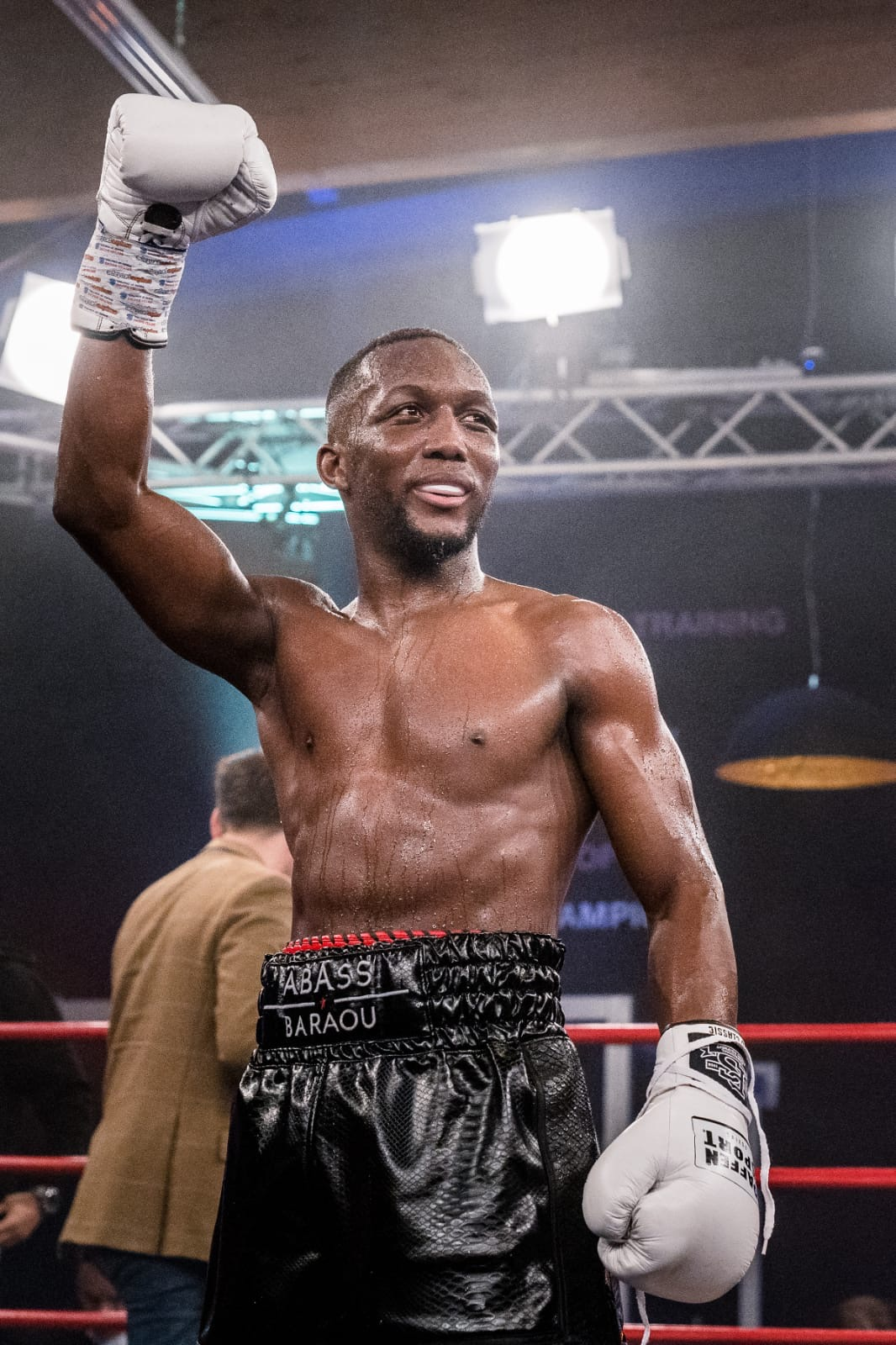 German Super Welterweight contender Abass Baraou produced another stoppage win in Hamburg last night Credit: Miguel Ferraz