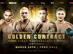 Golden Contract light-heavyweight semi finals. Photo credit: MTK Global