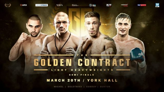 Golden Contract light-heavyweight semi finals. Photo credit: MTK Global