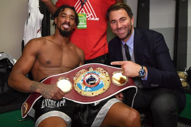 Promoter Eddie Hearn will be looking to make unification fights for Andrade in 2020 Credit: Boxing Scene