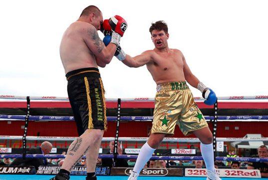 James Branch Jr en route to victory against Jan Hrazdira. Photo credit: Boxing News