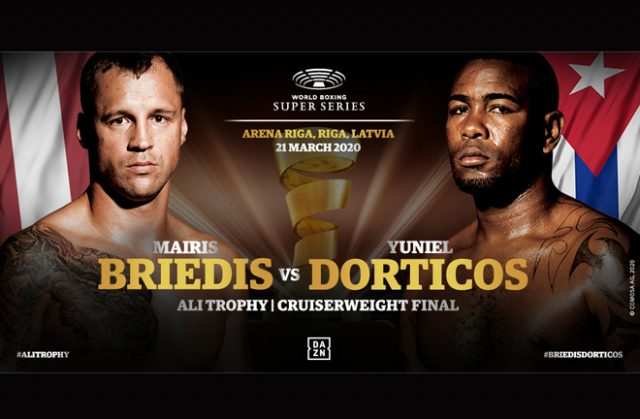 Mairis Briedis and Yuniel Dorticos clash in the World Boxing Super Series final on March 21 in Riga Credit: World Boxing Super Series/WBSS