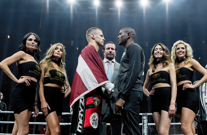 Dorticos' IBF belt as well as the ring magazine and Muhammad Ali trophy will be on the line Credit: World Boxing Super Series/WBSS