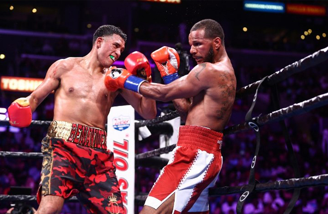 David Benavidez regained the WBC title against Anthony Dirrell in September Credit: Stephanie Trapp/Ryan Hafe