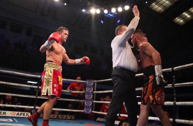 Dignum stopped Conrad Cummings in five rounds in November Credit: irish-boxing.com