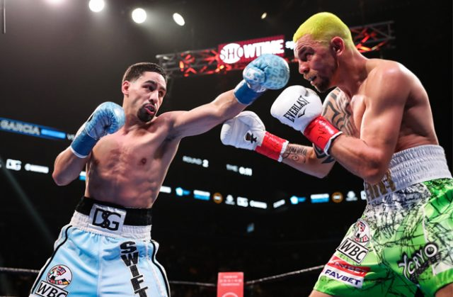 Danny Garcia comfortably saw off Ivan Redkach at Barclays Center on Saturday night Credit: SHOWTIME Boxing