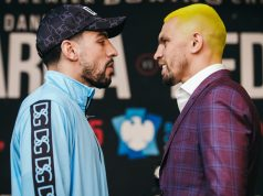 Former two-weight world champion Danny Garcia faces Ivan Redkach in Brooklyn on Saturday Credit: Amanda Westcott/SHOWTIME