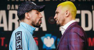 Former two-weight world champion Danny Garcia faces Ivan Redkach in Brooklyn on Saturday Credit: Amanda Westcott/SHOWTIME
