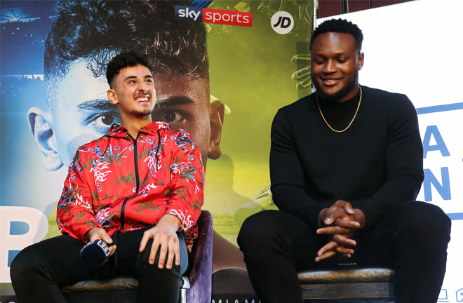 KSI's trainer Viddal Riley is preaparing AnEsonGib for his bout with Jake Paul Credit: Melina Pizano/Matchroom Boxing USA