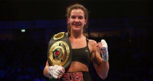 Terri Harper faces WBC Super Featherweight champion Eva Eva Wahlström on Feb 8 in Sheffield Credit: Matchroom Boxing