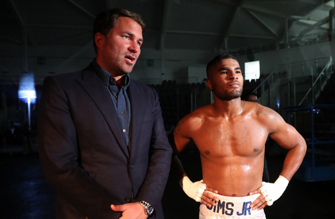 Sims Jr is under Eddie Hearn's Matchroom Boxing banner Credit: Boxing Scene