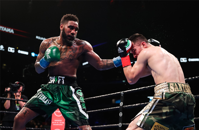 Former Super Welterweight champion Jarrett Hurd scored a final round knockdown on the way to a UD win Credit: SHOWTIME Boxing