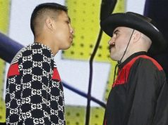 Jaime Munguia and Gary 'Spike' O'Sullivan face off. Photo credit: Boxing Scene