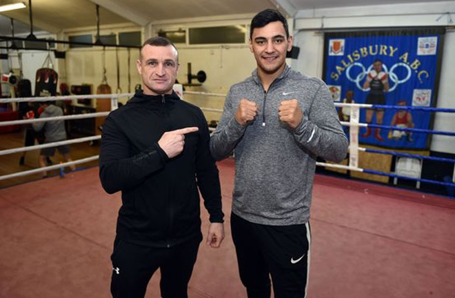 Quarless joined in the ring with coach and product of the gym, David Burke. Photo credit: liverpoolecho.co.uk