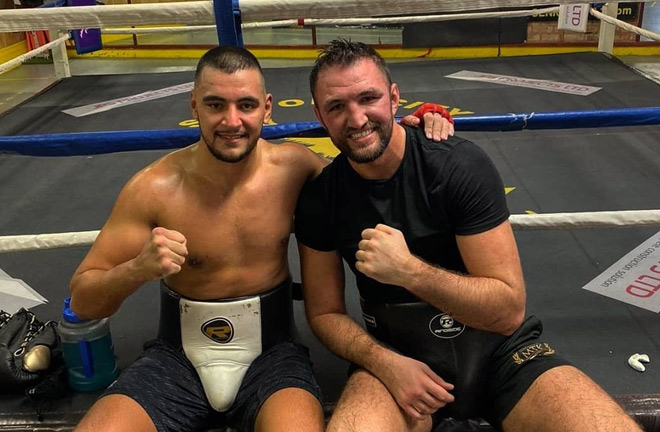 Quarless in camp with Hughie Fury. Photo credit: Twitter @QuarlessNathan