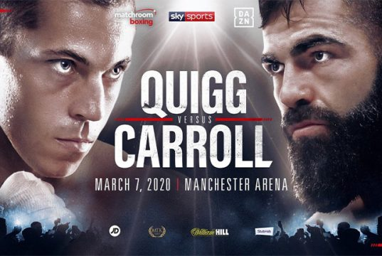 Scott Quigg will finally face Jono Carroll in Manchester, March 7. Photo credit: Matchroom Boxing
