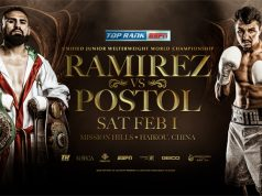 Jose Ramirez's mandatory world title defence against Viktor Postol will be re-arranged Credit: Top Rank