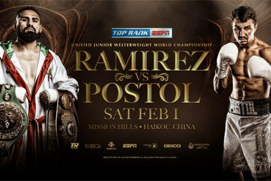 Jose Ramirez's mandatory world title defence against Viktor Postol will be re-arranged Credit: Top Rank