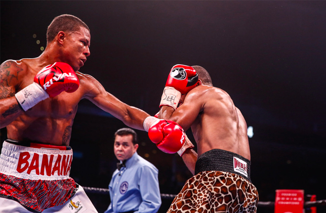 Rosario stunned former champion Julian Williams in Philadelphia earlier this month Credit: TOP CLASS BOXING (TWITTER)