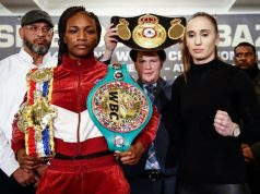 Claressa Shields is aiming to become a three-weight world champion against Ivana Habazin Credit: Stephanie Trapp