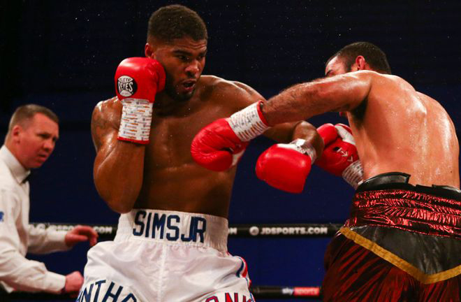 Sims Jr stopped Mateo Damian Veron in Peterborough in March Credit: Sky Sports