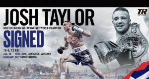 Josh Taylor has inked a multi-year promotional deal with Top Rank Credit: Top Rank