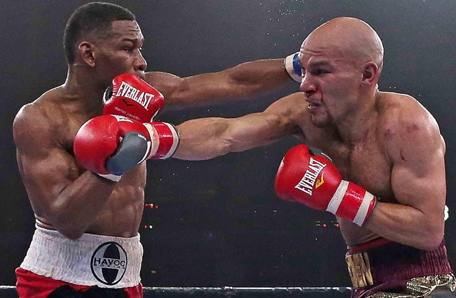 Truax was stopped in the final round by Daniel Jacobs in 2015 Credit: Premier Boxing Champions