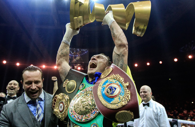 Oleksandr Usyk won the first World Boxing Super Series Credit: World Boxing Super Series/WBSS