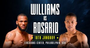 Julian 'J-Rock' Williams defends his WBA and IBF belts against Jeison Rosario.