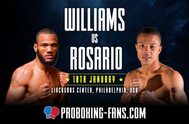Julian 'J-Rock' Williams defends his WBA and IBF belts against Jeison Rosario.