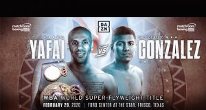 Kal Yafai will defend his WBA super flyweight title against Roman Gonzalez in Texas on Feb 29 Credit: Matchroom Boxing