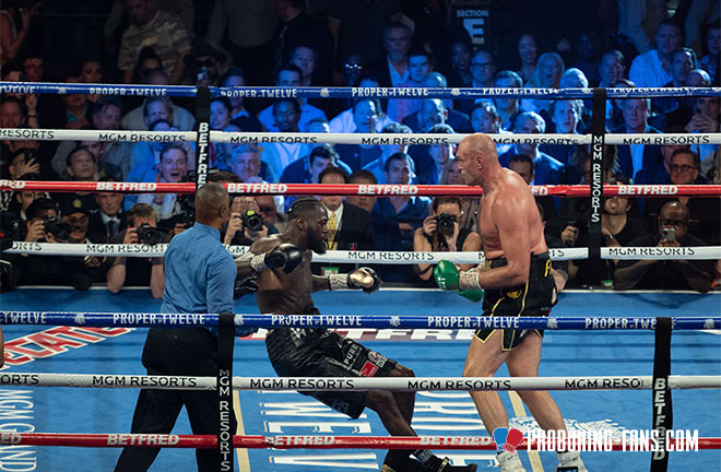 Tyson Fury blew away Deontay Wilder with a seventh round stoppage in Las Vegas in February Photo Credit: Pro Boxing Fans