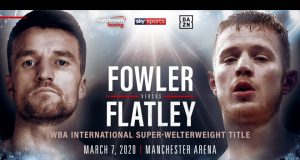 Anthony Fowler will clash with Jack Flatley on March 7 at the Manchester Arena Credit: Matchroom Boxing