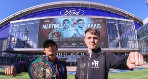 Jay Harris takes on a huge task in Julio Cesar Martinez for the WBC world title: Photo Credit: Matchroom Boxing.
