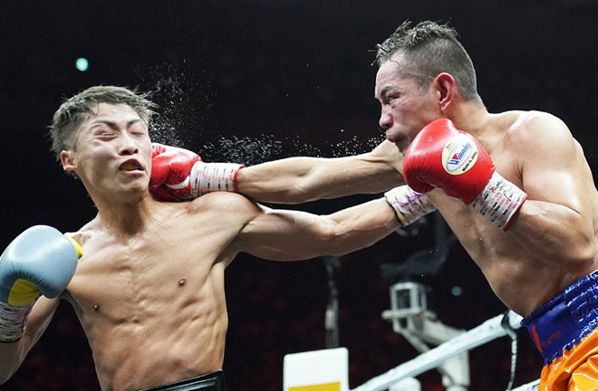 Inoue was taken the distance in a classic World Boxing Super Series final against Donaire last November Credit: WBSS