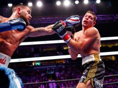 Caleb Plant Batters, Dominates Feigenbutz in TKO Win. Photo Credit: Boxing Scene