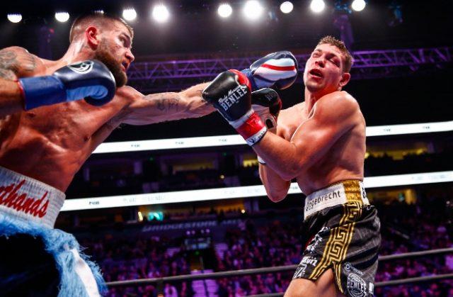 Caleb Plant Batters, Dominates Feigenbutz in TKO Win. Photo Credit: Boxing Scene