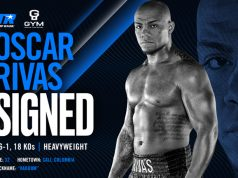 Oscar Rivas has signed a multi-fight promotional deal with Top Rank Boxing Credit: Top Rank