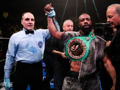 Gary Russell Jr made a fifth successful defence of his WBC Featherweight title in Pennsylvania last night Credit: Amanda Westcott/SHOWTIME Boxing