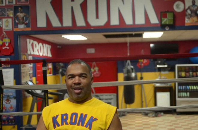 Javan 'Sugar Hill' Steward in the Kronk gym. Photo Credit: YoutTube / Salita Promotions.
