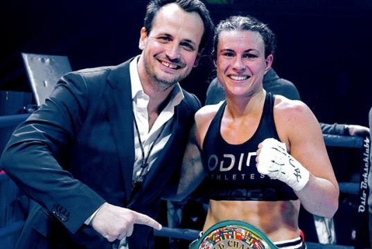 Katharina Thanderz is relishing her chance to face Terri Harper. Photo Credit: Team Sauerland.