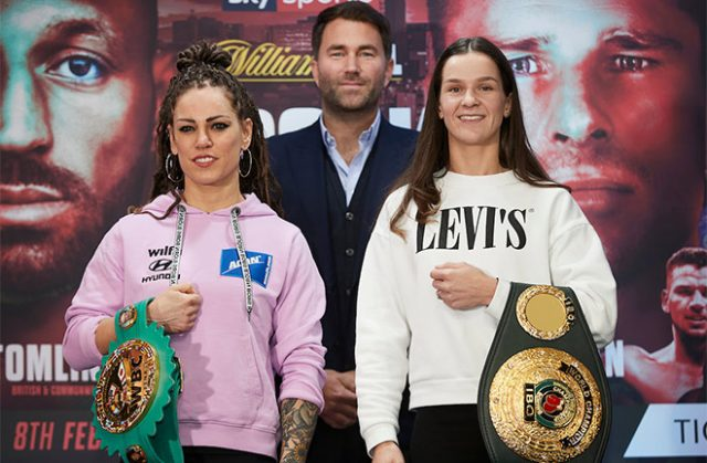 Eva Wahlstrom will be looking to defeat the rising star, Terri Harper on Saturday night. Photo Credit: Matchroom Boxing.