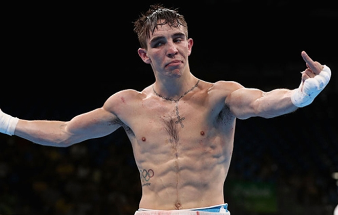 Mick Conlan flipping the bird after a controversial defeat at the Rio 2016 Olympic Games. Photo Credit: SportsJoe.ie